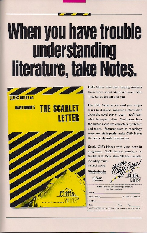 Want to spend more time reading comics and less doing your English homework? Try Cliffs Notes!