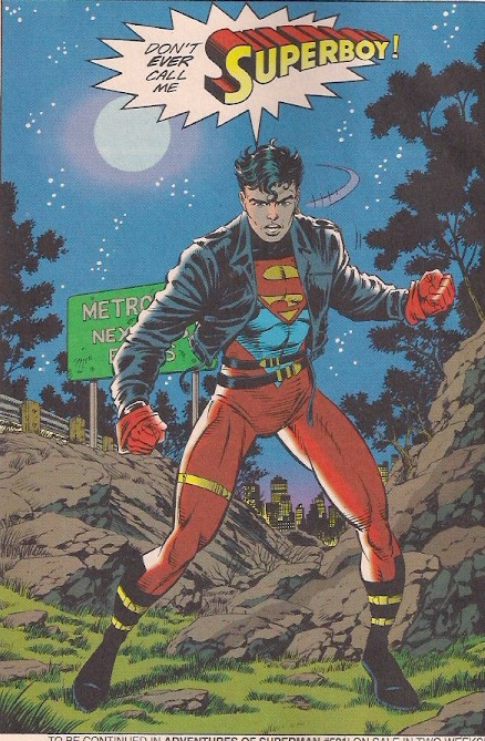 Who knew that the Superboy undercut would be in style 20 years later?