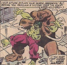 And a giant bear putting Hulk in a full nelson.