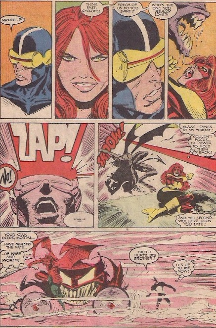 Scott, Never save your ex before your wife! Even if she has turned into the Goblin Queen!