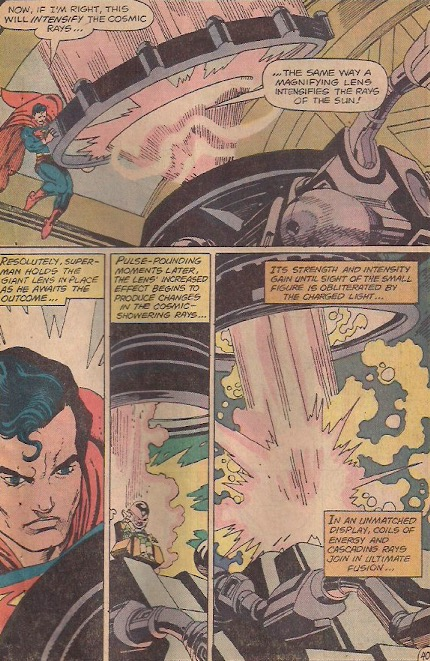This is very Silver Age, done in by a giant magnifying glass.