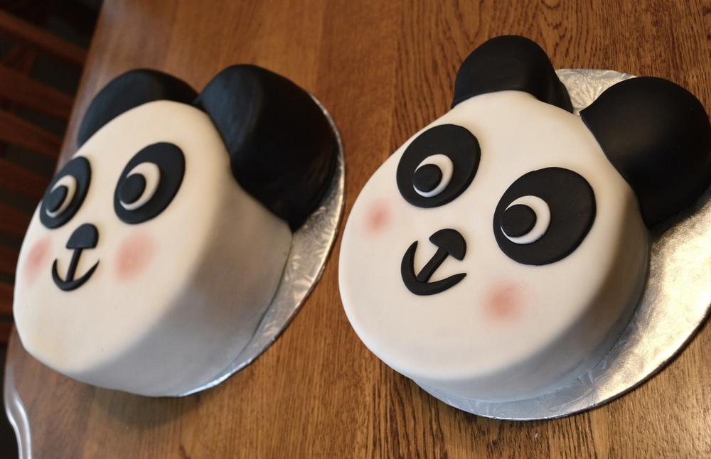 first birthday panda cake