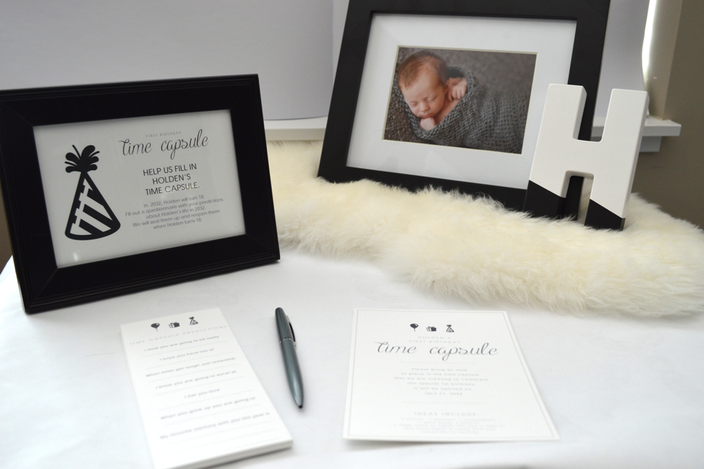 Time Capsule Table Sign Free Printable