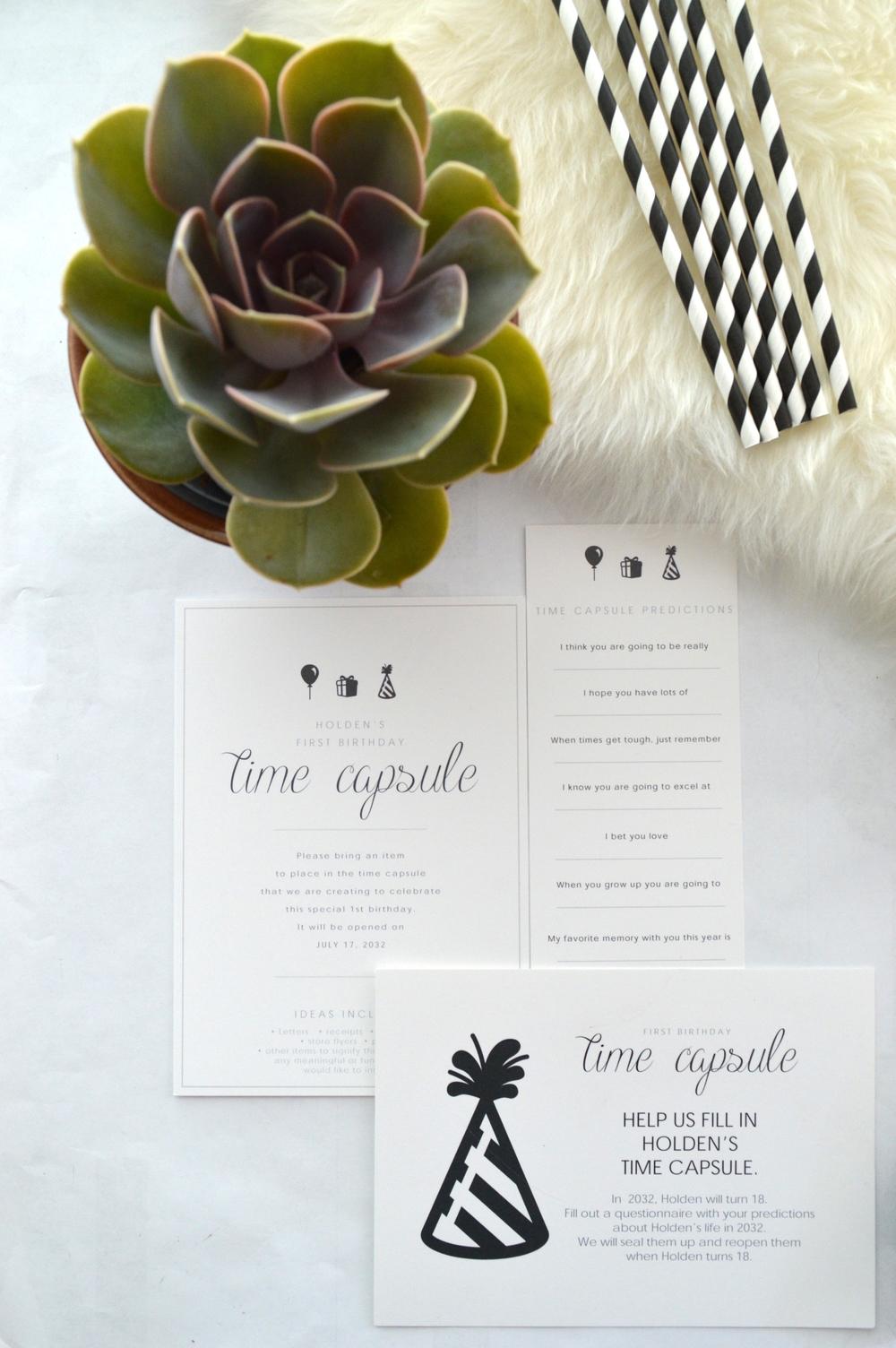 time capsule printables
