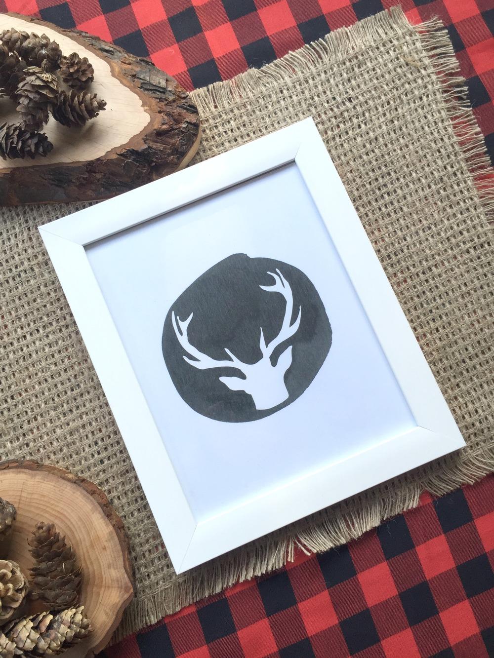printable reindeer
