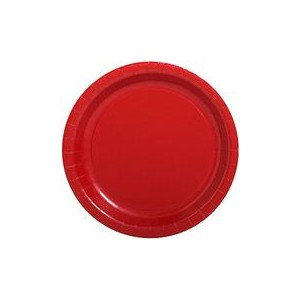 red disposable plates
