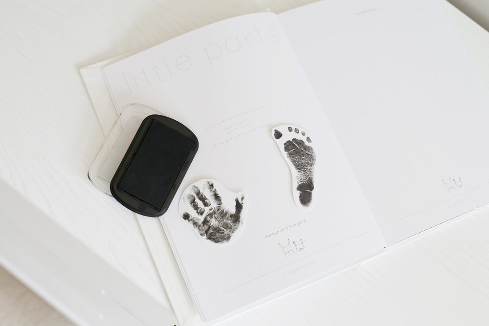 baby footprint tutorial