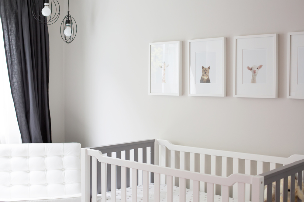 grey nursery featured on the mushybooks blog