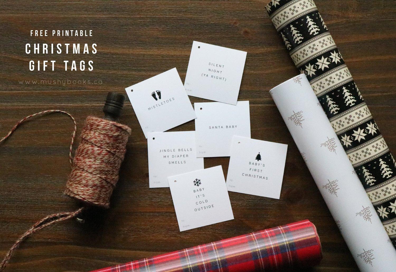 free printable christmas gift tags — Mushybooks