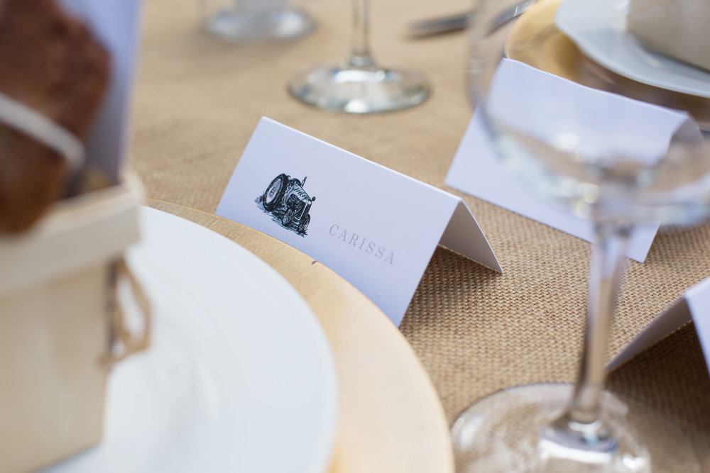 Farmers Market Baby Shower place cards