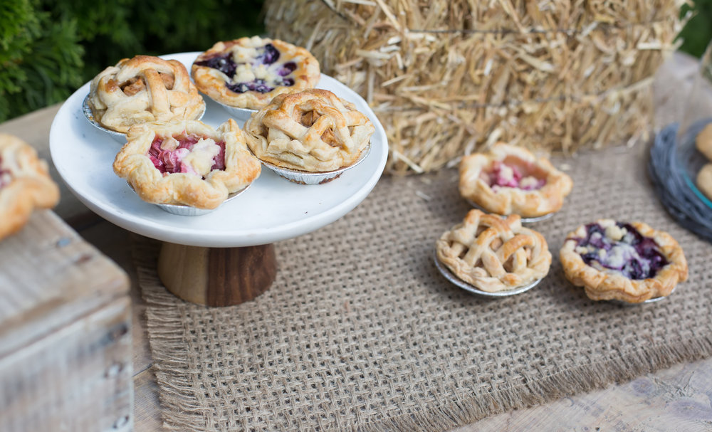 Farmers Market Baby Shower mini pies