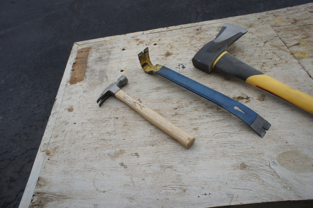 One of our favorite parts of reclaiming lumber - deconstruction. We use a hammer, flat bar, and splitting maul along with some brute force.