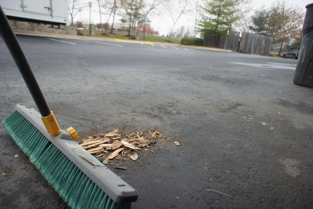 Cleaning is essential to ensure that no nails find their way to boots or tires.