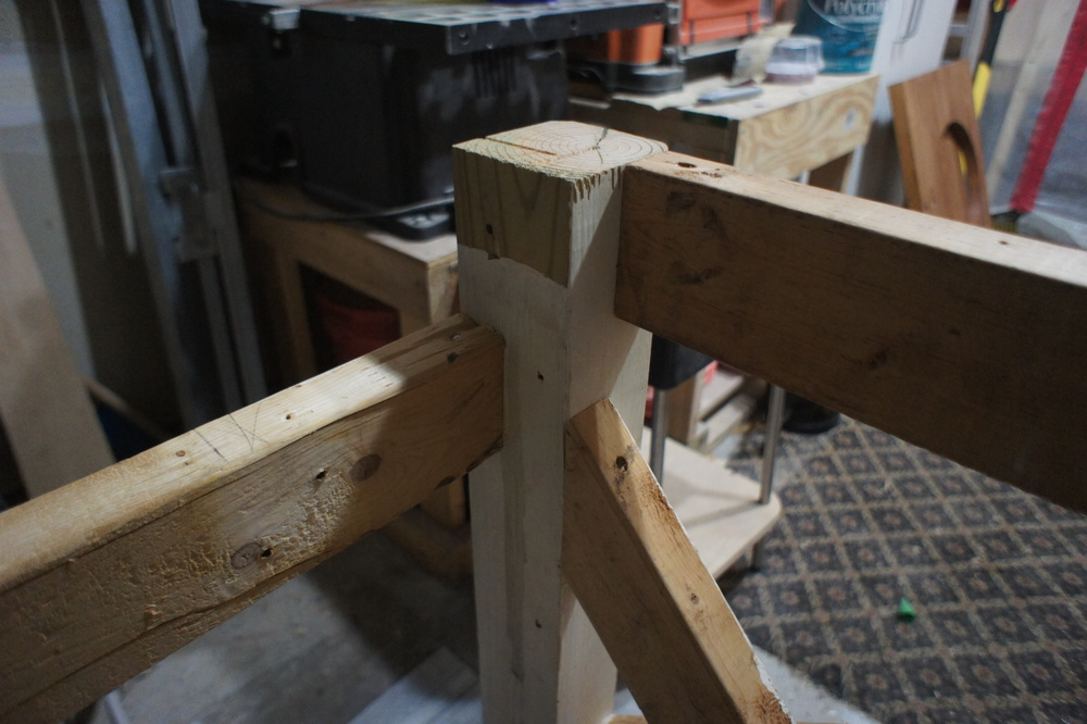 An interesting shot of the joinery and construction at the legs.