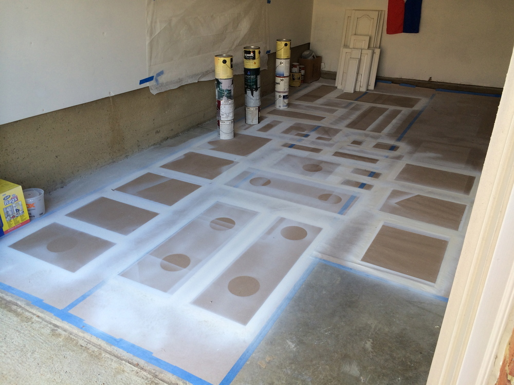 At this point, the room is clean and ready for spraying.