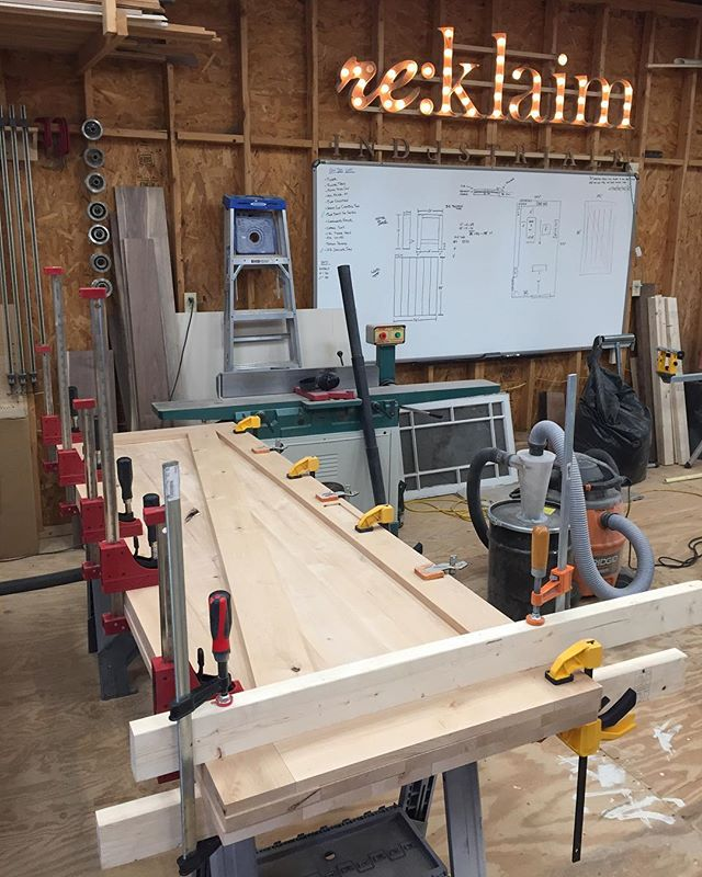 Did someone order a few doors? #reklaimindustriale #alder #door #doors #custom #customfab #jet #dewalt #clamps #smallbusiness #bluecollar #work #buildit