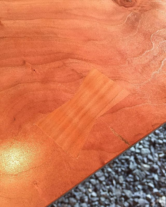 In a first for us here at Reklaim, we have incorporated a butterfly into this cherry slab to protect against this crack growing larger. Very happy with this one and hoping to do more in the future!  Let us know what you think or any tips and tricks for using butterflies in your projects #reklaimindustriale #butterfly #dowoodworking #cherry #slab #kitchen #kitchenisland #wood #woodworking #woodwork #bluecollar #smallbusiness #learning #custom
