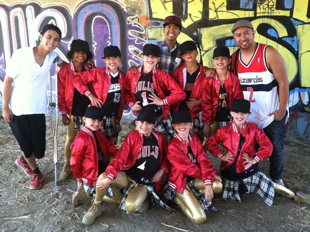 """On the set of """"Girls"""" dance video"""