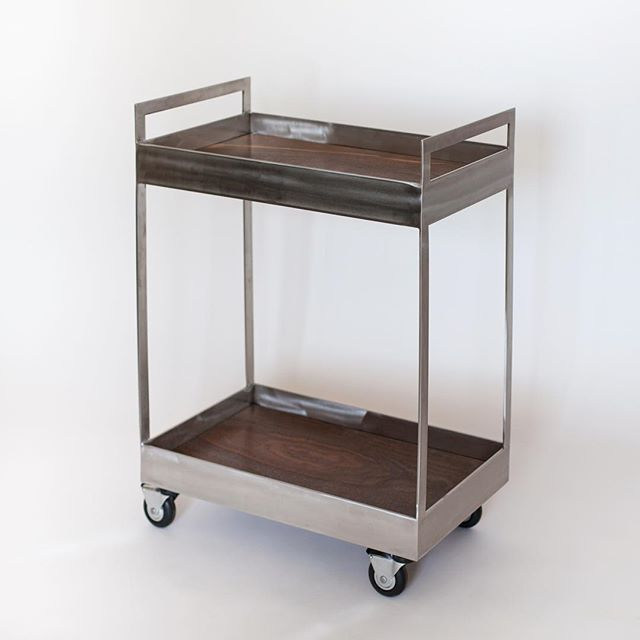 A bunch of my early pieces are on sale this week! Call dibs on the Clark Cart and other one-of-a-kind pieces. See link in profile for photos and pricing. . The Claro Cart was a collaboration with woodworker and friend Caty Moniz. I'd love to find a good home for it!
