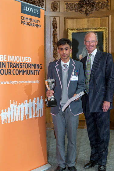 Nayem Uddin 10L      Posing with the trophy, after his great performance