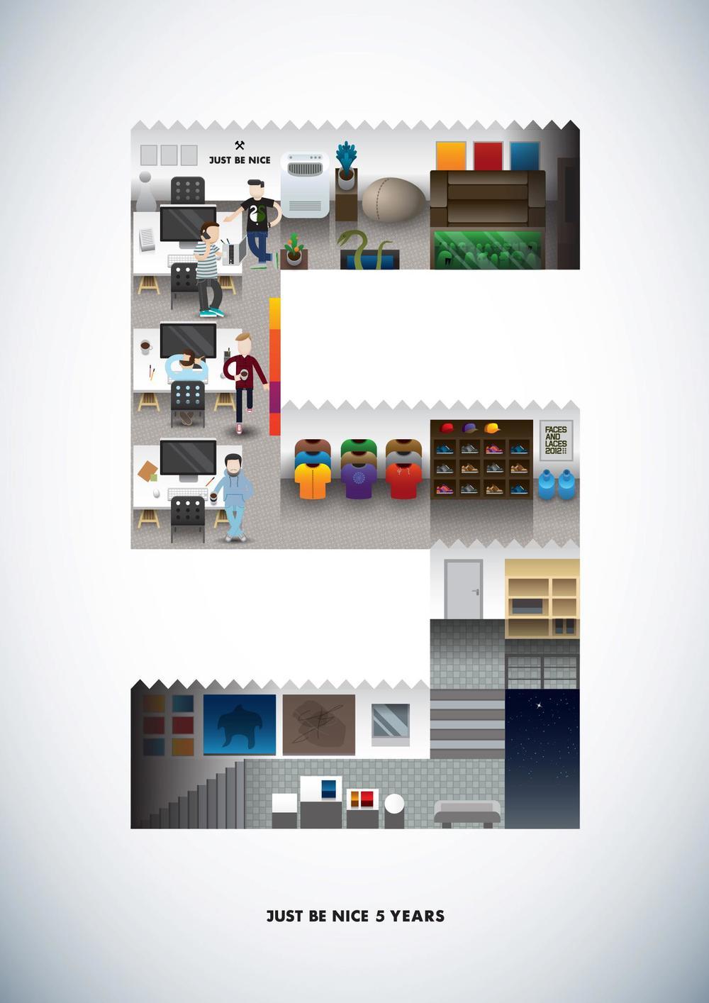 Плакат к пятилетию студии