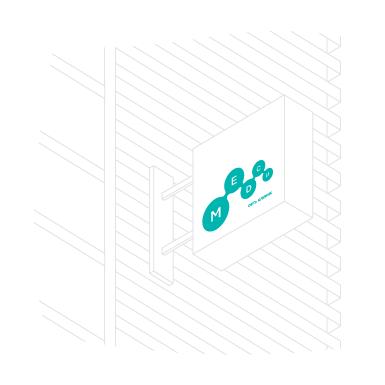 Логотип на здании