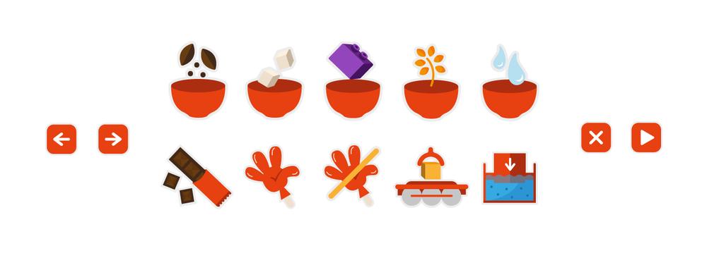 Иконки на аппаратуре