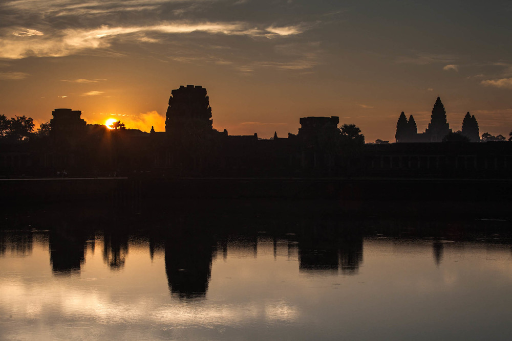 Angkor Wat at the sunrise.