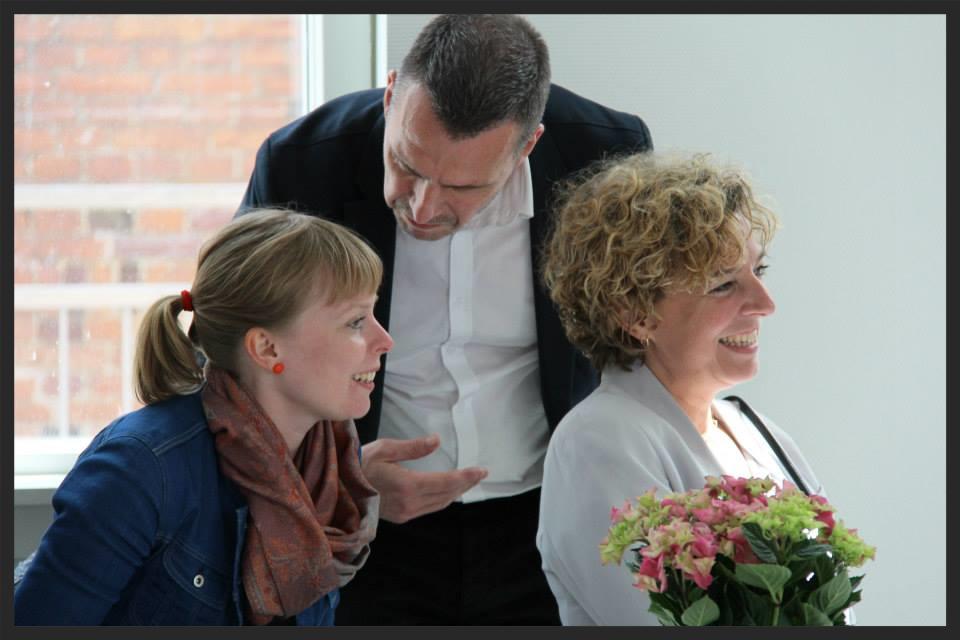 Borgmester Joy Mogensen, Skoleleder Thorsten Dyngby og Undervisningsminister Christine Antorini.
