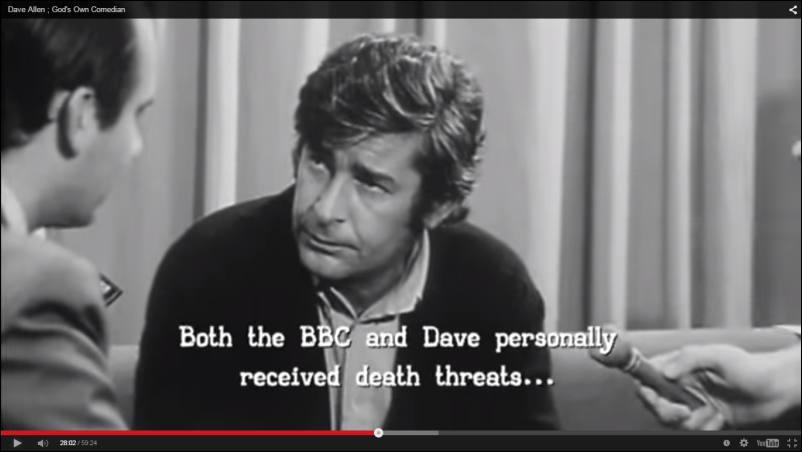 Fra:Dave Allen ; God's Own Comedian - 60 min