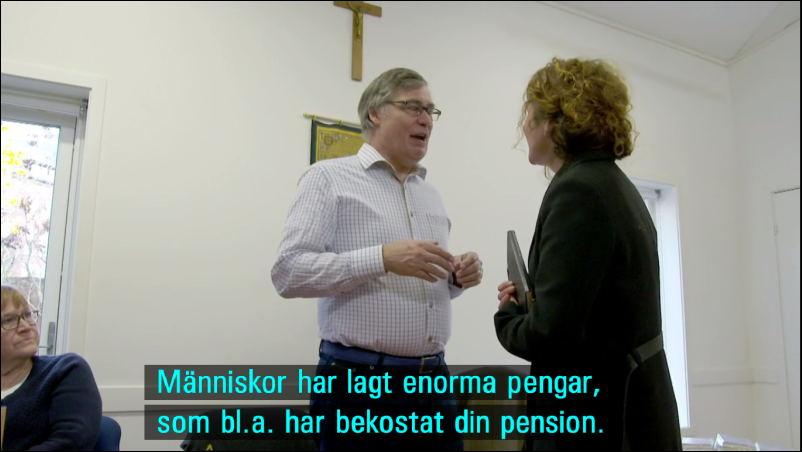 Birgitta Ekman,Ulf Ekman og programvært Karin Mattisson.