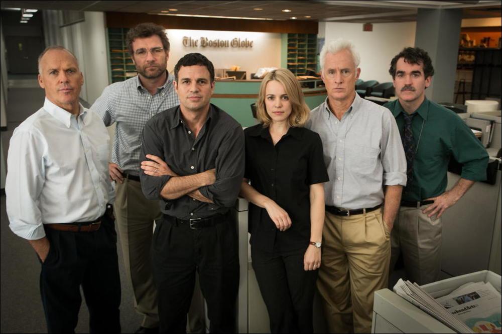 Spotlight teamet og chefredaktøren på avisen Boston Globe