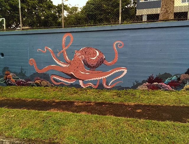 Octopus and coral are coming along but we got rained out today.