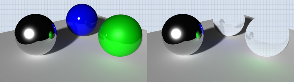 The Material Wrapper is a matte shader that still emits light bounces like Final Gathering and appears in reflections.