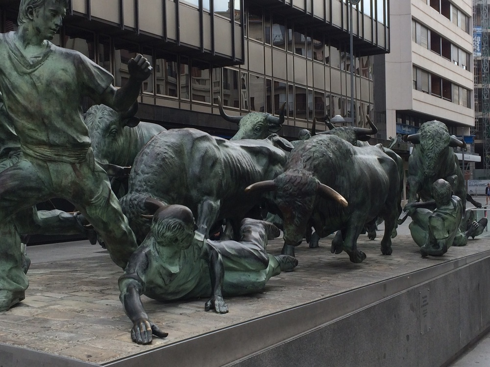 Running With The Bulls of Pamplona Monument