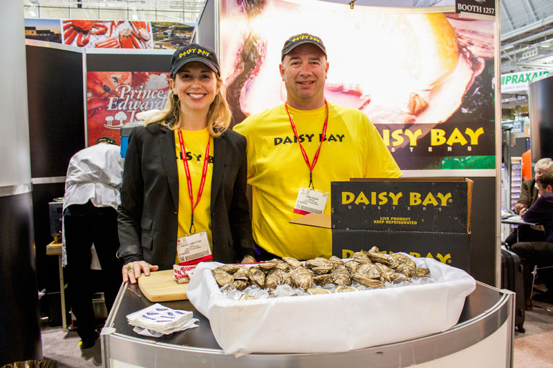Lindsay Linkletter and James Power of Daisy Bay Oysters representing Prince Edward Island at the Seafood Expo NA.