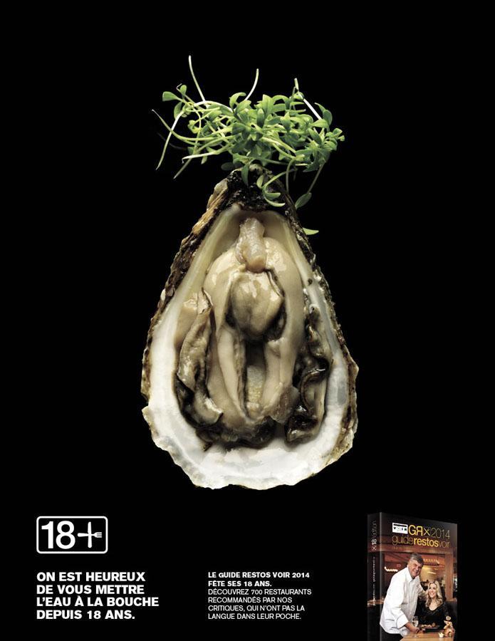 "The ethical adman: literal ""food porn"" promotes guide des restos 2014."