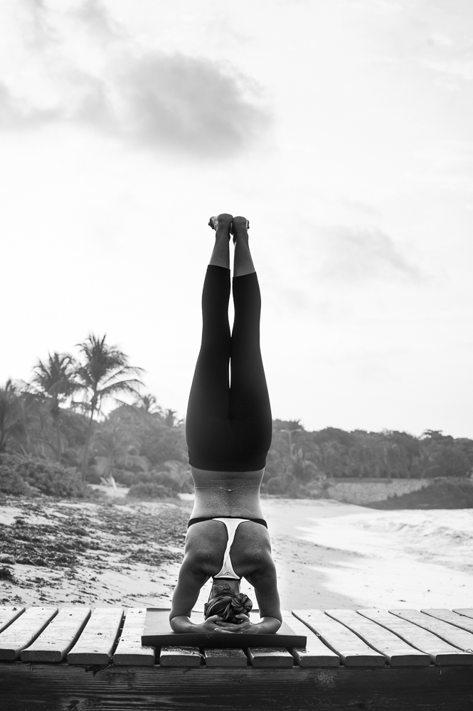 Headstand on Spotts beach