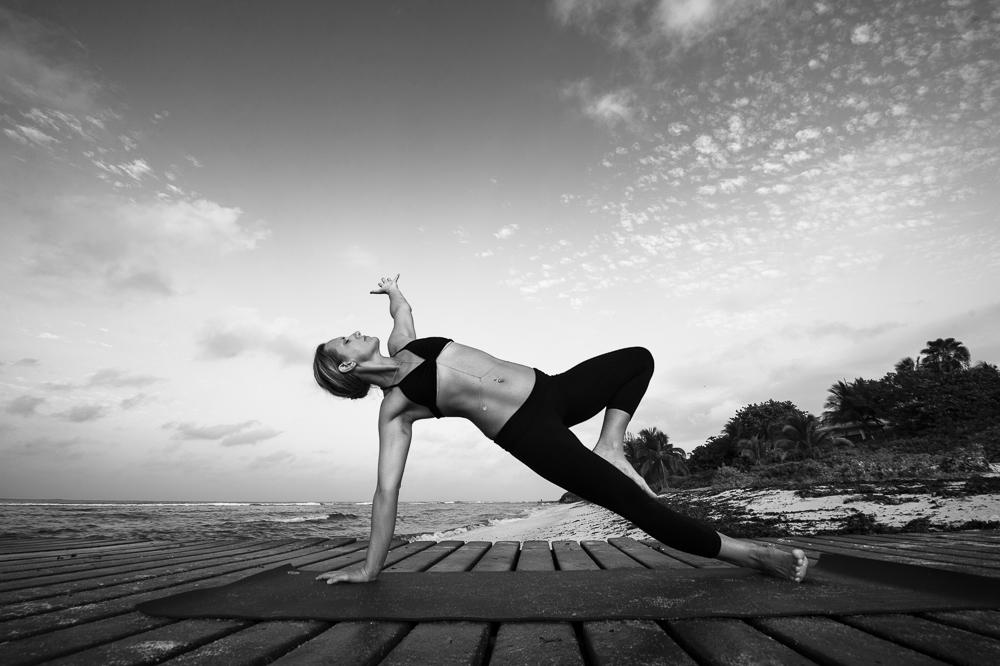 Sideplank on the beach # yoga photography