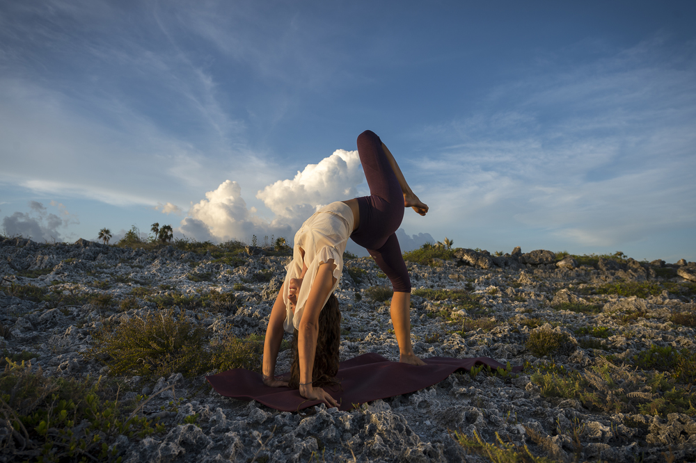 Stunning backbending at sunset #Yoga