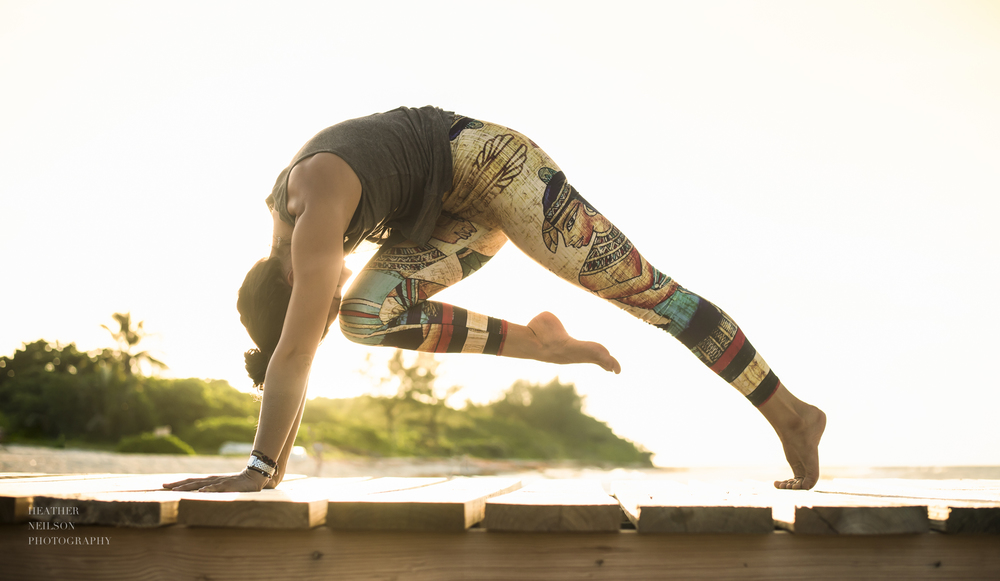 Inspirational yoga and lifestyle photography