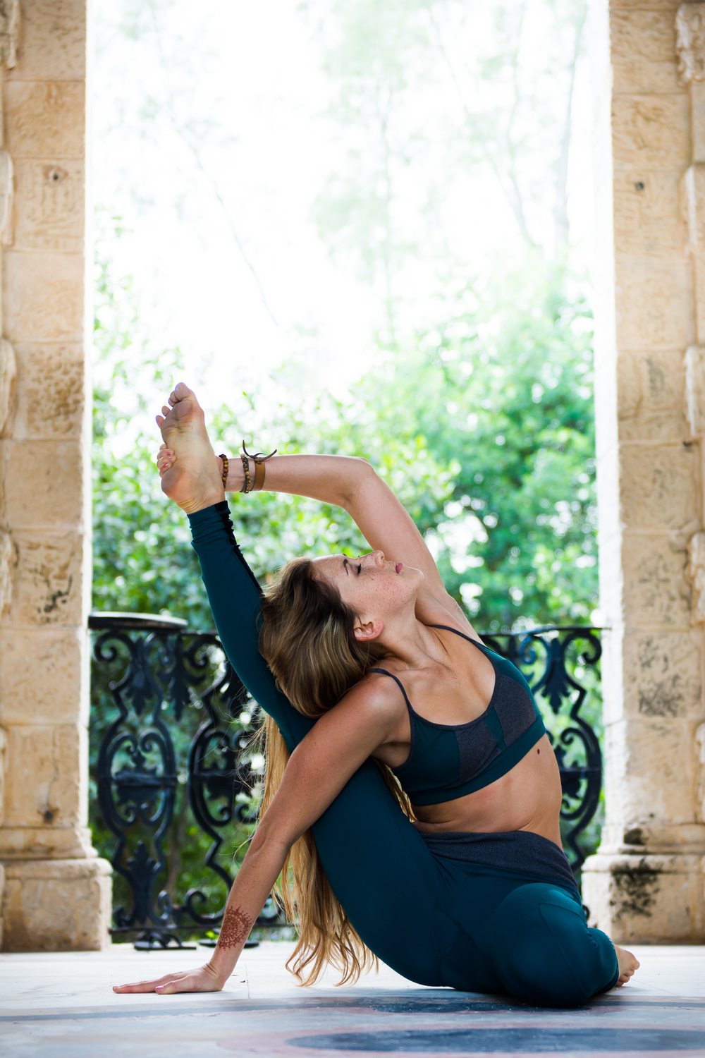 Yoga, lifestyle and portrait photographer Cayman - image shot at Vizcaya Miami.