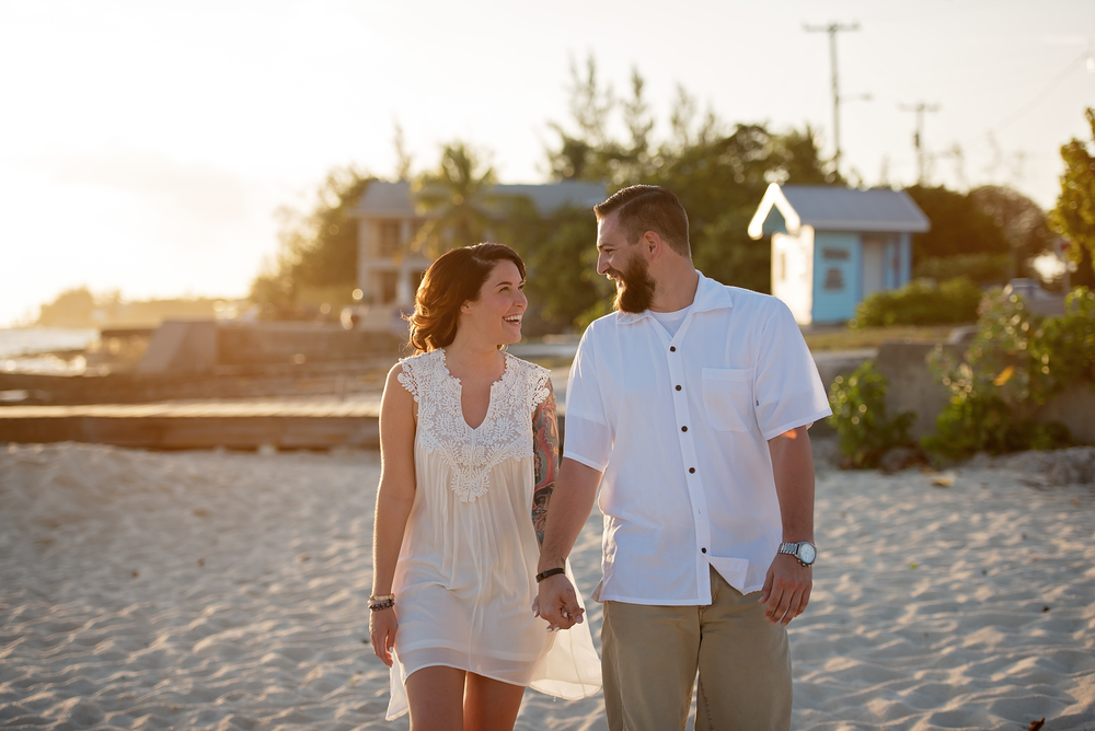 Cayman Islands engagement shoot | beach proposal