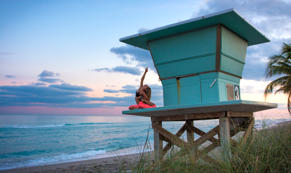 Yoga photography Miami and California | sunset shoot