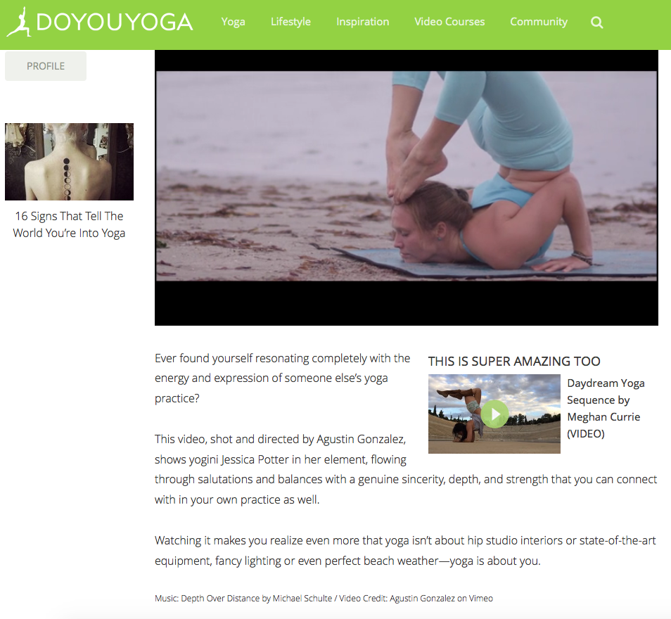 Heather Neilson London Yoga Photographer published work