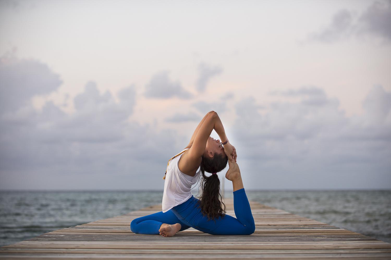 Cayman islands yoga photographer rachel at barkers heather neilson photography