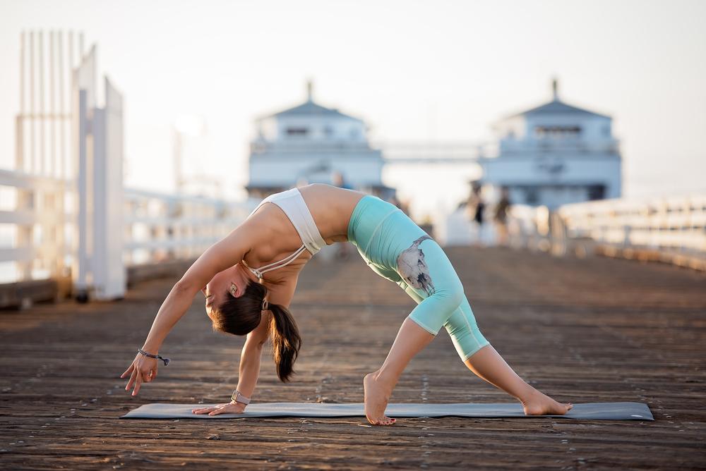 California yoga photographer | Malibu pier