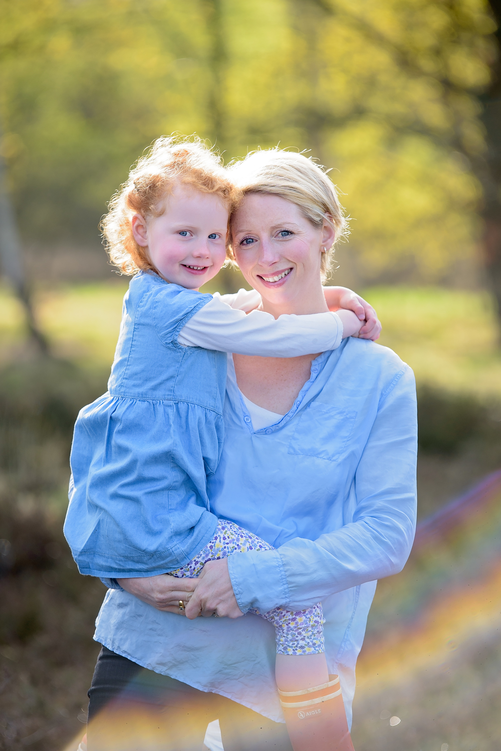 Mother and daughter portrait, Wimbledon, SW London