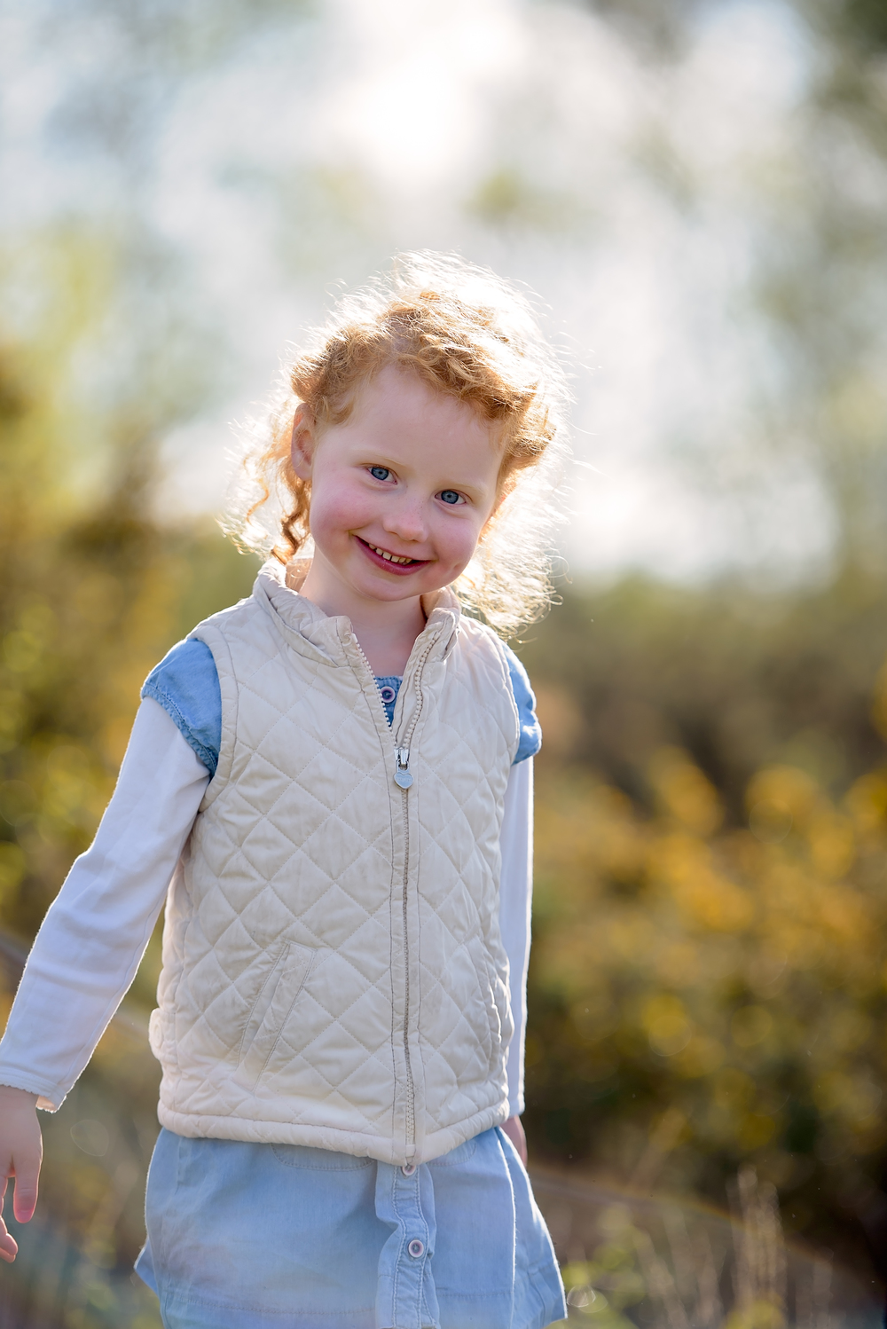 Child portrait on Wimbledon Common, SW London