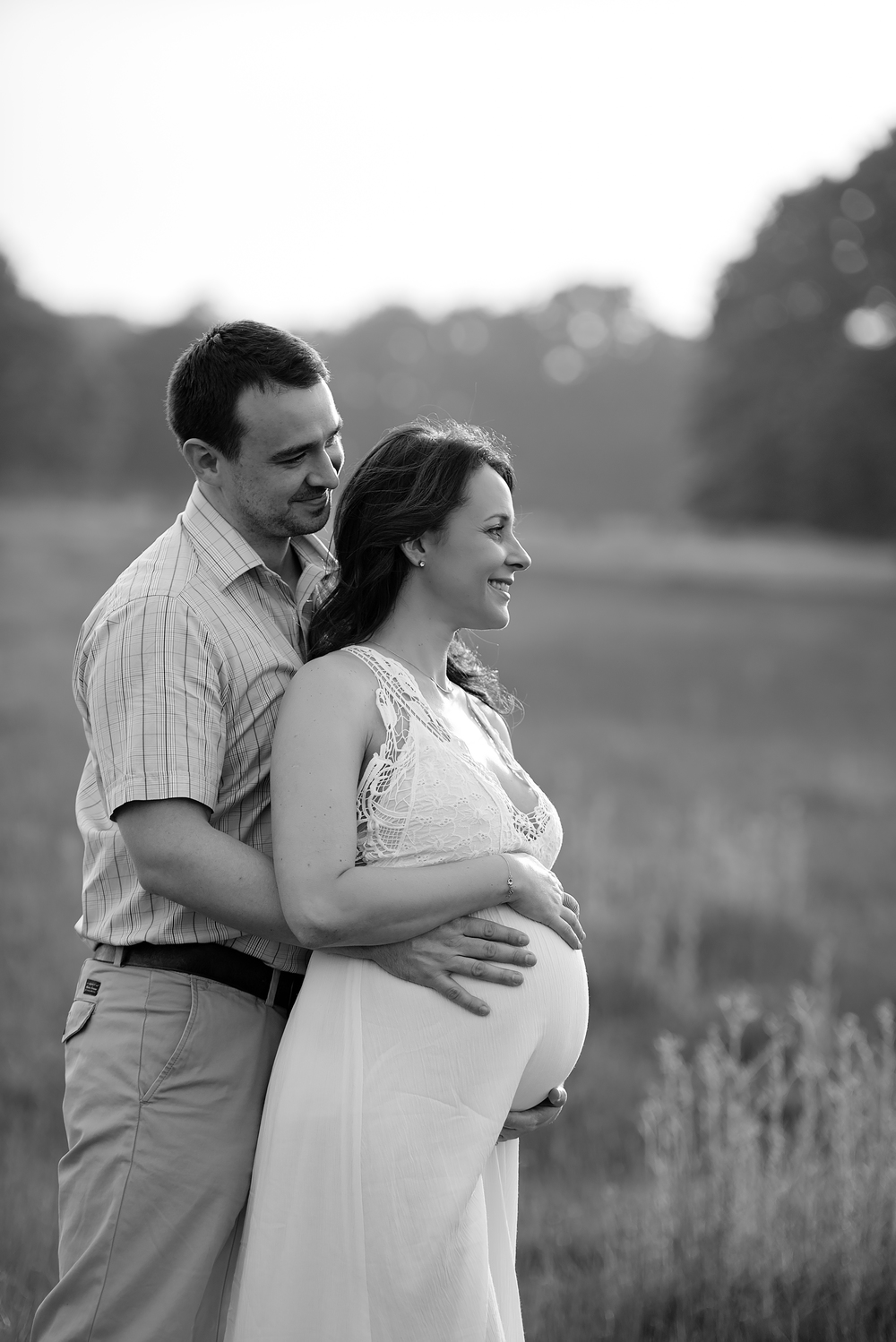 Black and white maternity photography | London